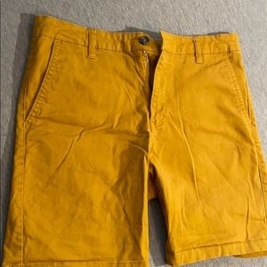 Forever 21 : Mustard yellow shorts size 31